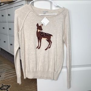 Halogen deer sweater Nordstrom NWT
